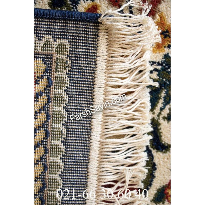 فرش ساوین باغی سرمه ای فرش با کیفیت