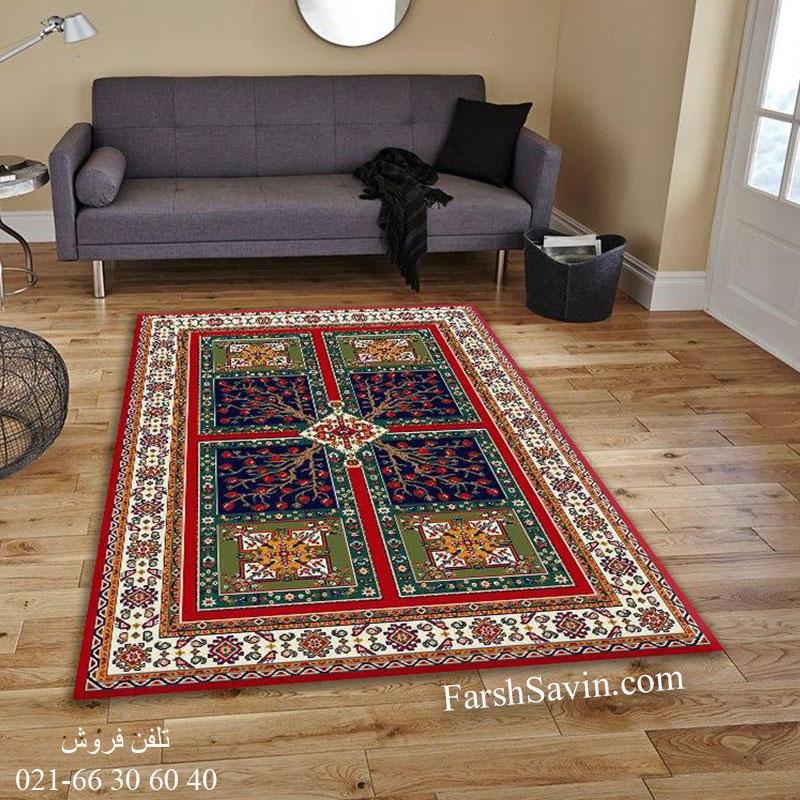 فرش ساوین باغ انار لاکی فرش سنتی
