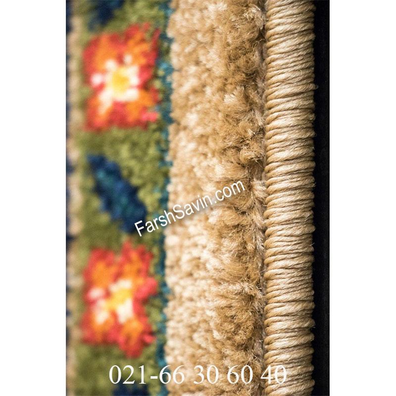 فرش ساوین بهرخ شکلاتی فرش سنتی