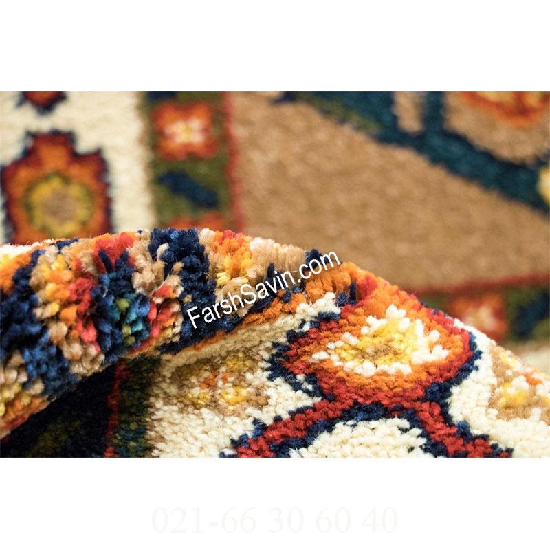 فرش ساوین بهرخ شکلاتی فرش ارزان