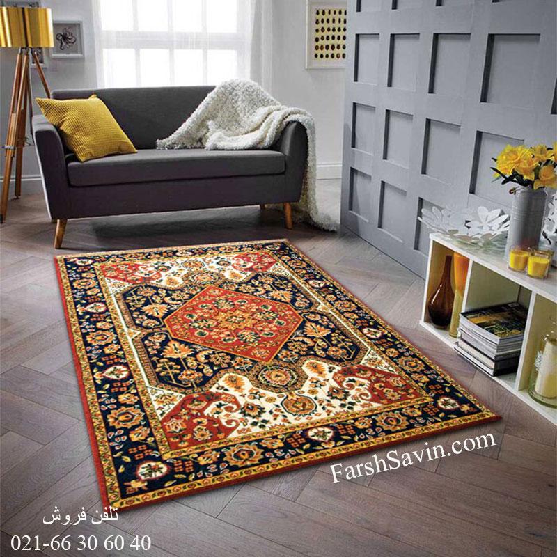 فرش ساوین ژاله لاکی فرش سنتی