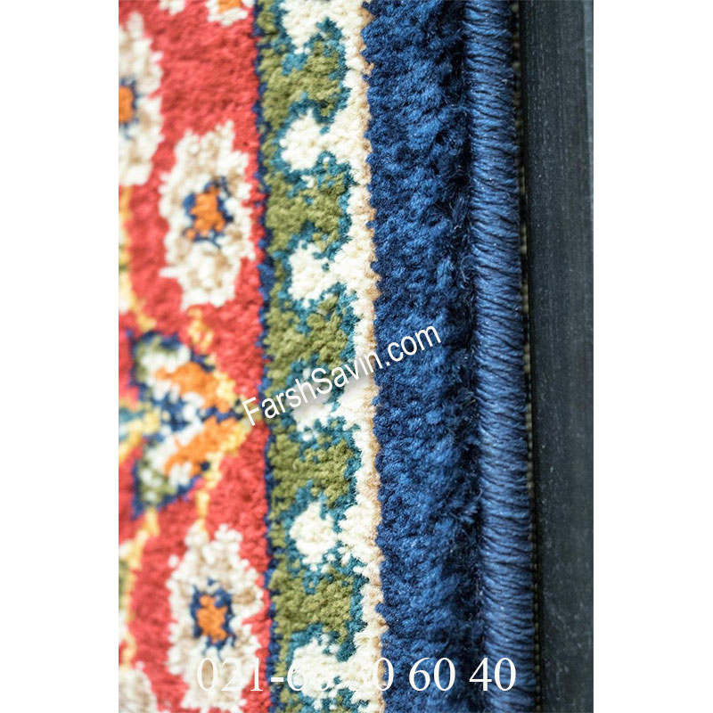 فرش ساوین کشکولی سرمه ای فرش سنتی
