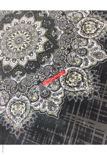 فرش ساوین کد 7652 نقره ای کهنه نما