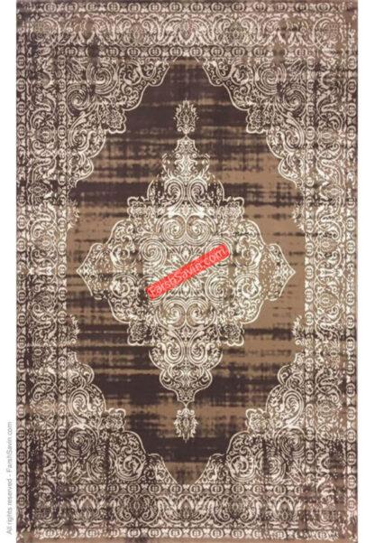 فرش ساوین کد 7701 شتری طرح وینتیج