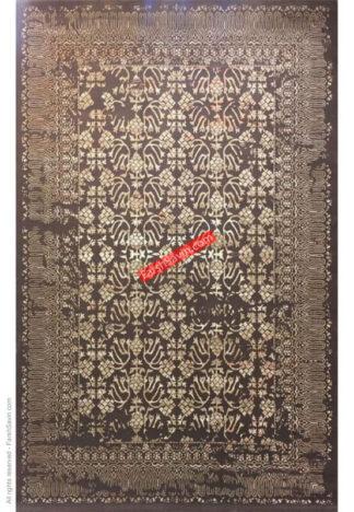 فرش ساوین 7704 گردویی اتاق پذیرایی